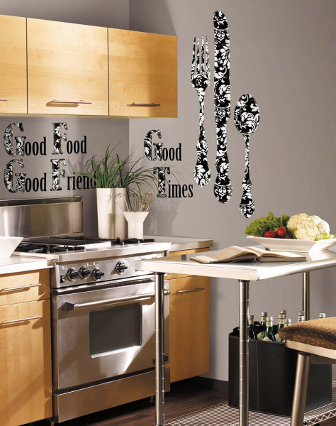 Wandsticker Good Times Silberbesteck Küche