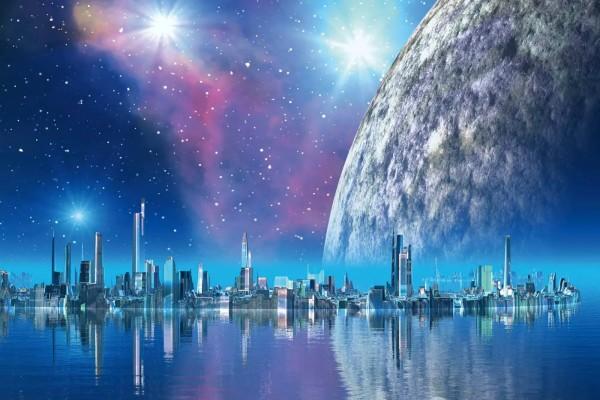 Vliestapete Moonlight City 375x250