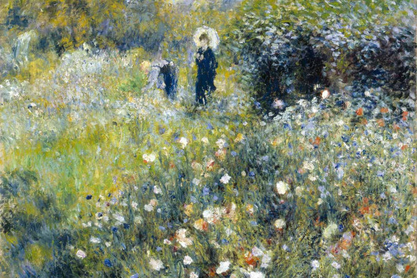 Vliestapete Frauen im Garten Renoir 375x250