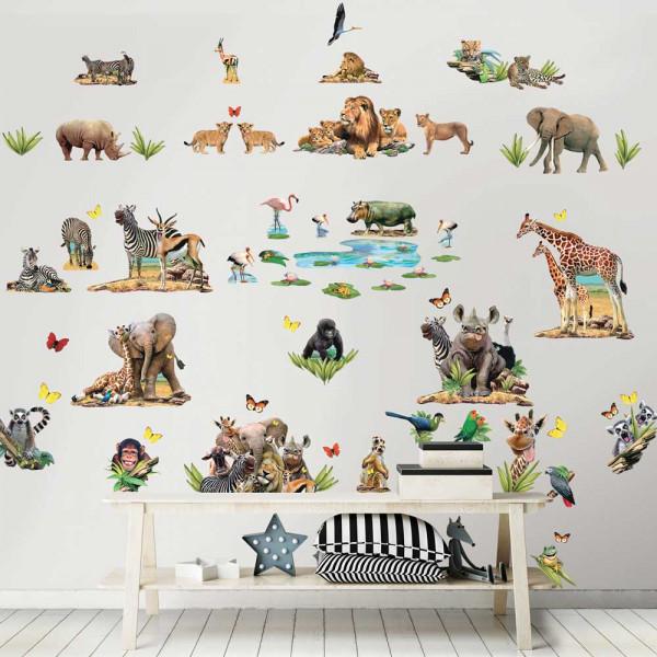 Walltastic Wandsticker Afrika Safari Dschungeltiere Tapetenwelt