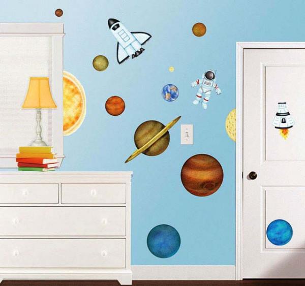 Eck Wandsticker Weltall Planeten Kinderzimmer