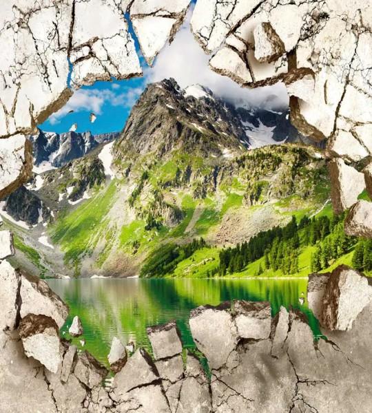 Vliestapete Berggipfel 225x250