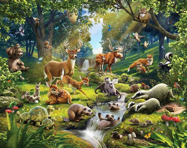 Fototapete Kinderzimmer Waldtiere
