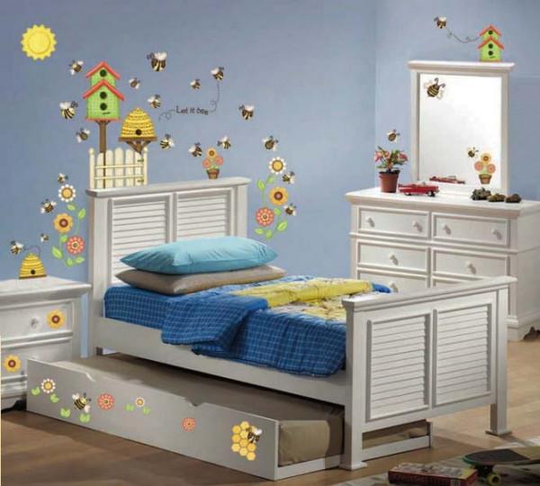 Eck-Wandsticker Bienenstock Honigbiene Kinderzimmer