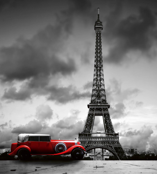 Vliestapete Oldtimer in Paris 225x250