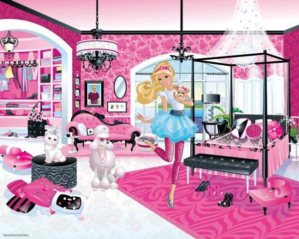 Fototapete Barbie Mädchenzimmer