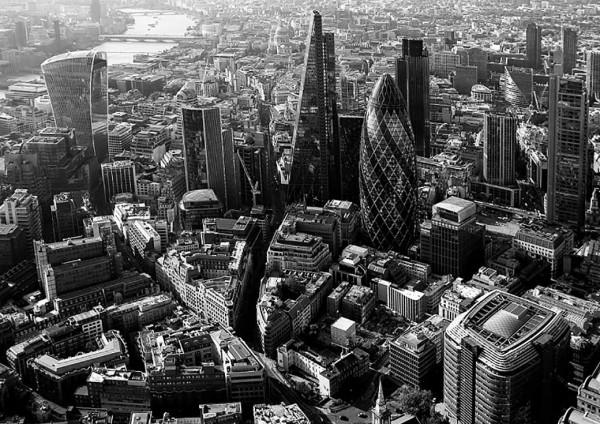 Fototapete Finanzzentrum London Themse