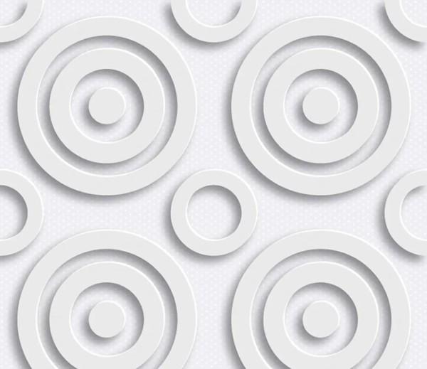 Vliestapete 3D-Optik Dots weiß