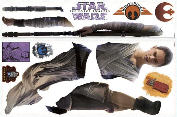 Wandsticker Star Wars Erwachen der Macht Rey