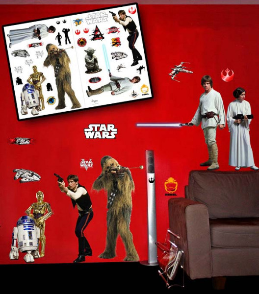 Wandsticker Star Wars Rebellenstaffel