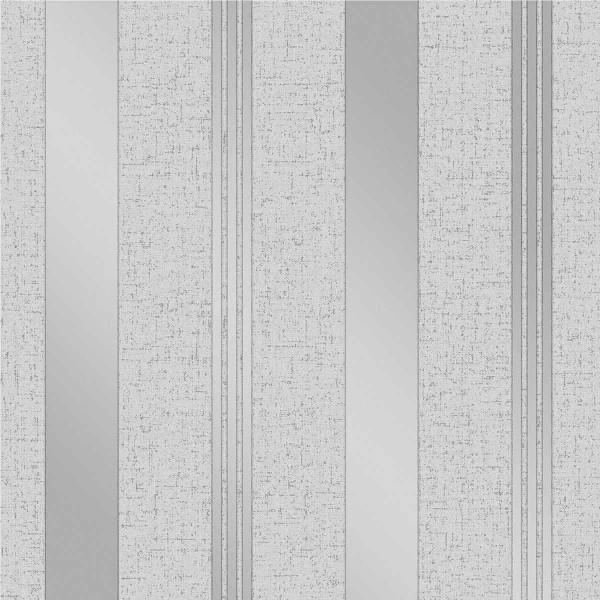 Vinyl Tapete Streifen Quartz Design silber