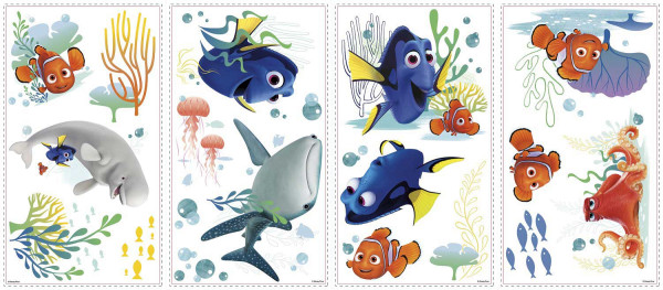 RoomMates Wandsticker Disney Pixar Finding Dory Bad