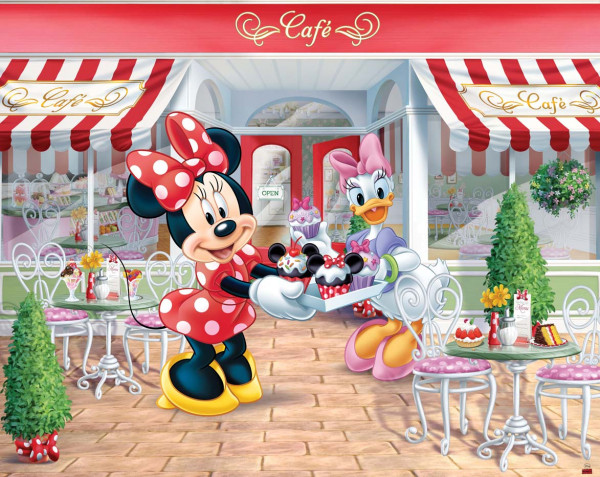fototapete kinderzimmer disney minnie mouse tapetenwelt. Black Bedroom Furniture Sets. Home Design Ideas
