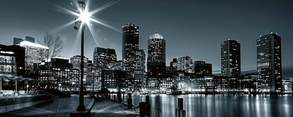 Panorama Vliestapete Boston 375x150