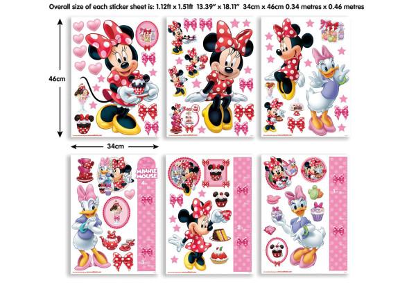 Wandsticker Disney Minnie Mouse Daisy Duck Maße