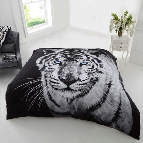 Kuscheldecke weißer Tiger