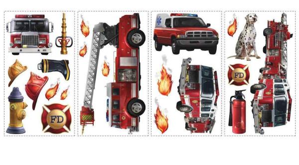 Wandsticker Feuerwehr Auto