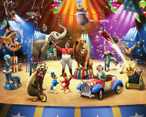 Fototapete Zirkus Tiere Manege