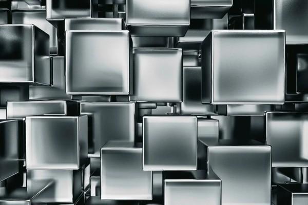 Vliestapete Metall Würfel 375x250