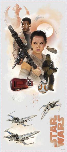 Wandsticker Star Wars Erwachen der Macht Helden