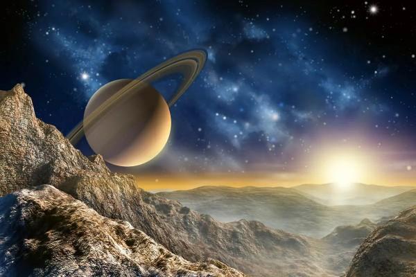 Vliestapete Saturn mit Ringen 375x250