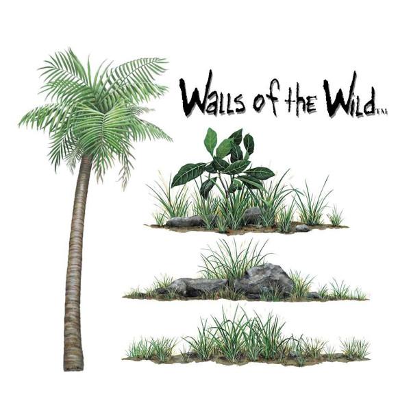 Walls of the Wild Wandsticker Dschungelpflanzen Set klein