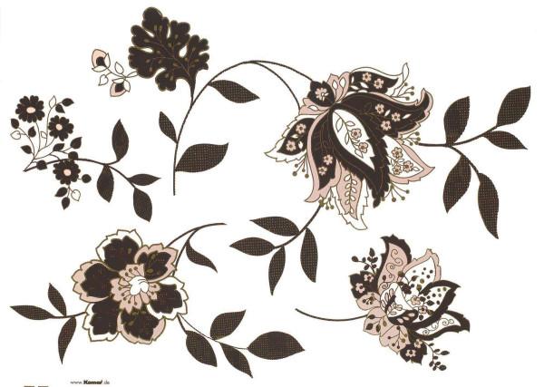 Wandsticker Blumenranke