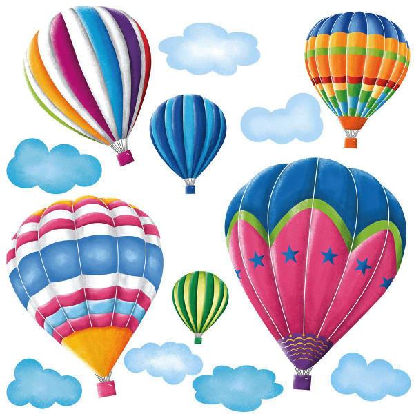 Wandsticker Heißluftballons Megapack