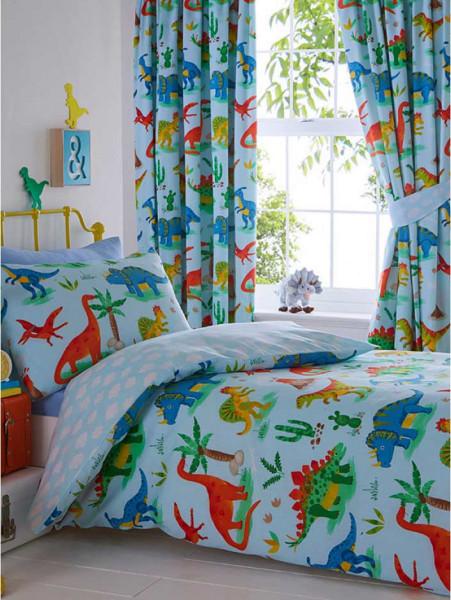 Bettwäsche Dinosaurier blau