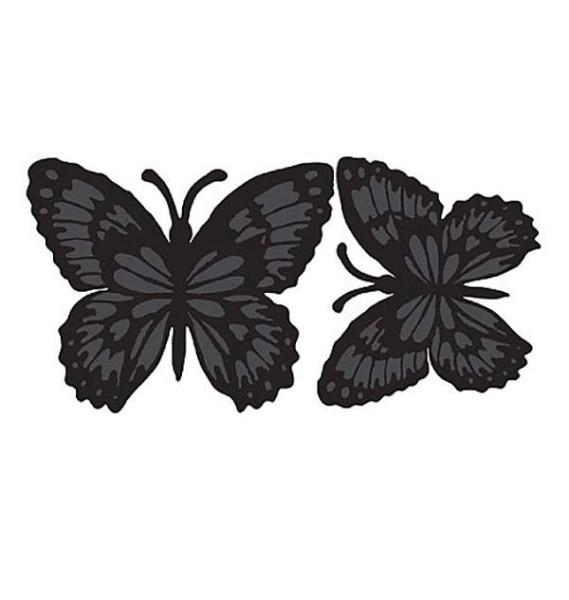 Kreidetafel Wandsticker Schmetterlinge