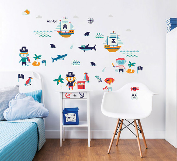 Walltastic Wandsticker Piraten Affen Kinderzimmer