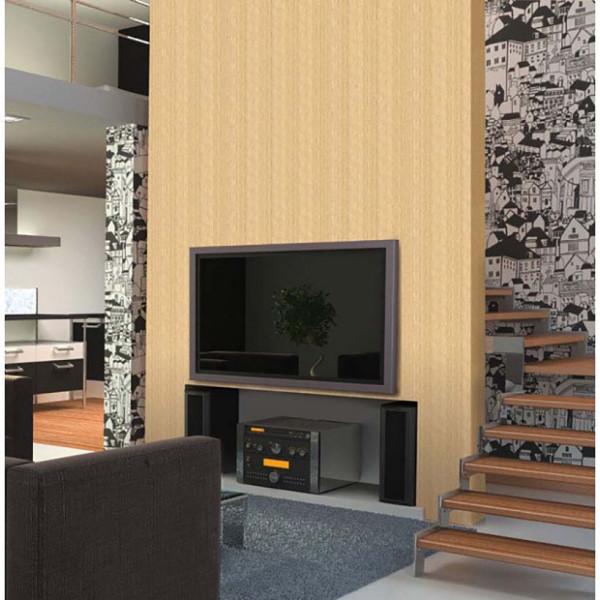 Selbstklebende Tapete helle Holzstruktur Wohnzimmer