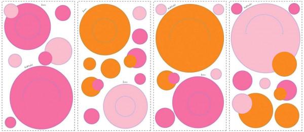 Wandsticker Wandtaschen pink orange