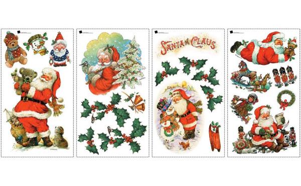 Wandsticker Weihnachtsmann Santa Claus