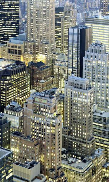 Vliestapete Fototapete Manhattan bei Nacht