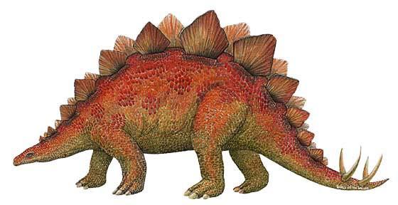 Wandsticker Dinosaurierwelt Stegosaurus klein