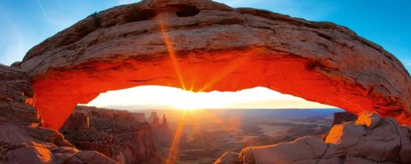 Panorama Vliestapete Felsbogen Utah 375x150