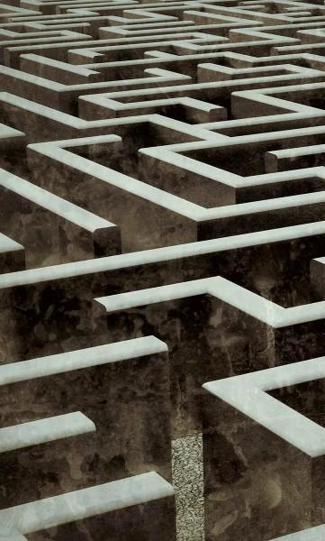 Vlies Fototapete Labyrinth 150x250