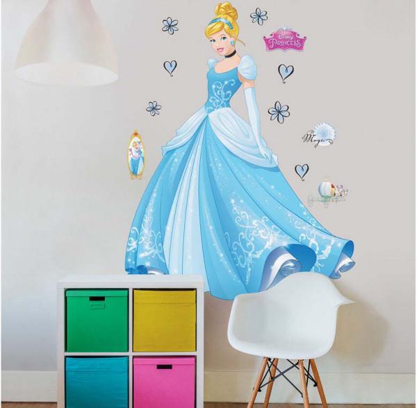 Walltastic Kinderzimmer Wandsticker Disney Princess Cinderella XXL