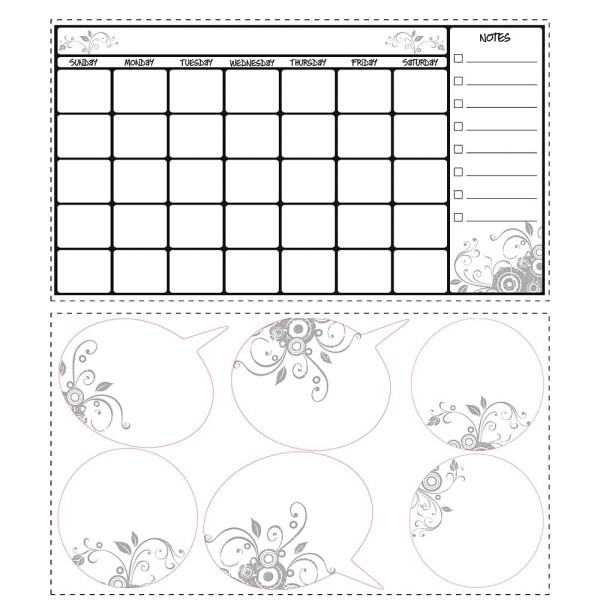 Wandsticker abwischbarer Kalender Stundenplan