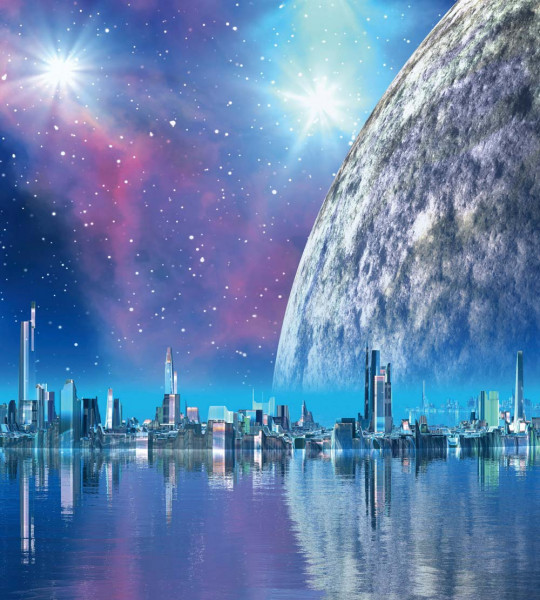 Vliestapete Moonlight City 225x250