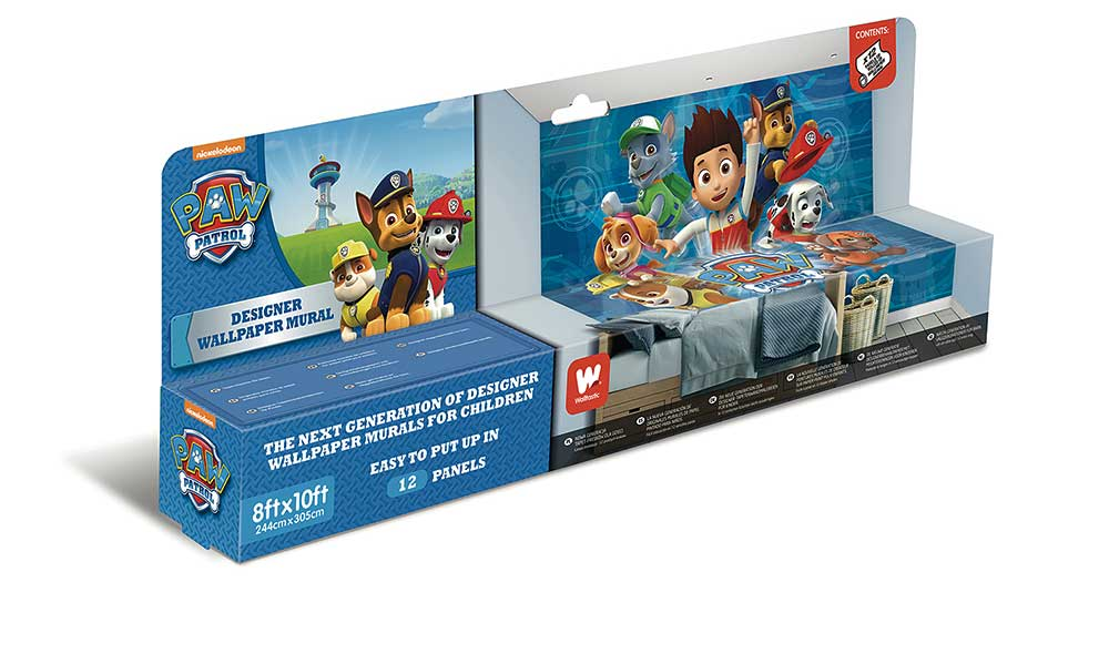 walltastic fototapete paw patrol hundestaffel tapetenwelt. Black Bedroom Furniture Sets. Home Design Ideas