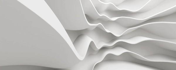 Panorama Vliestapete weiße Welle 375x150