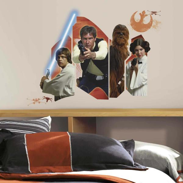 Wandsticker Star Wars Eine neue Hoffnung Helden Jugendzimmer