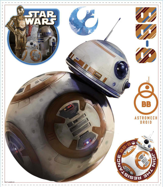 Wandsticker Star Wars Erwachen der Macht Droide BB-8