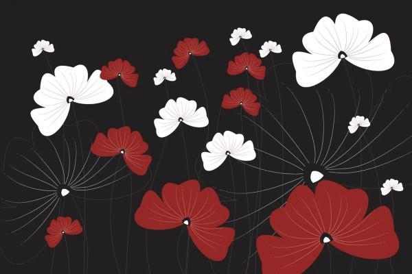 Vliestapete Blüten Blumen Grafik 375x250