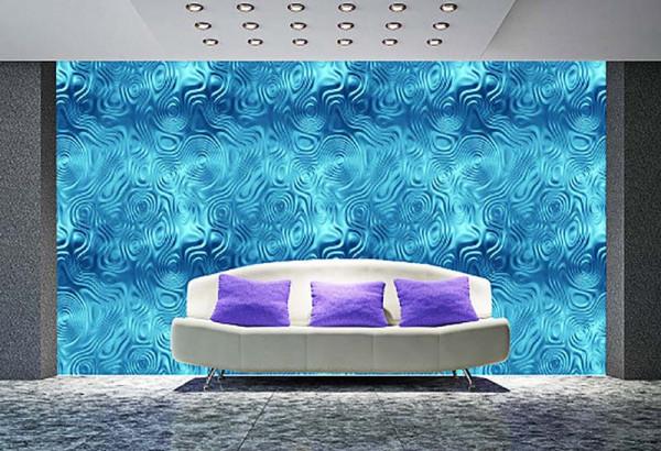 Fototapete blaue Wellen Wohnzimmer