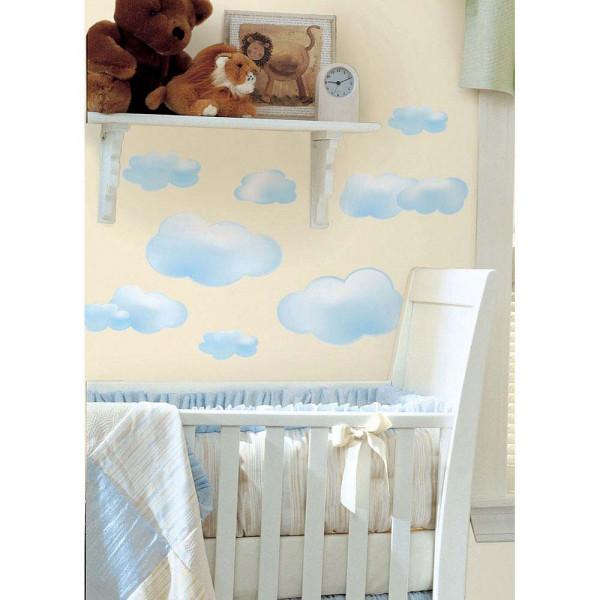 Wandsticker Wandtattoo Babyzimmer Wolken