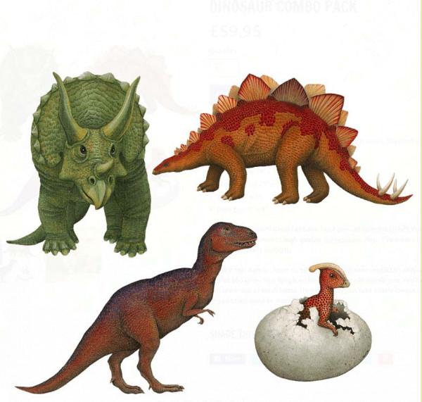 Wandsticker Dinosaurier Dinosaurierwelt Starterset