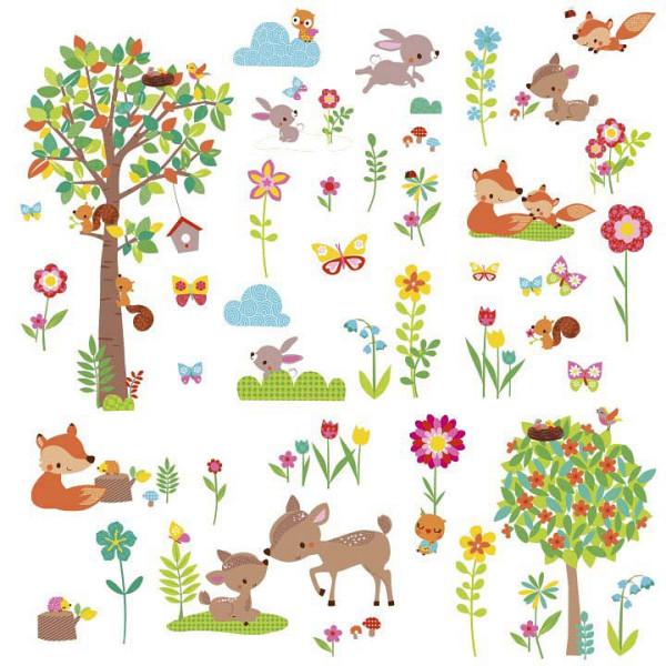 Wandsticker Tiere des Waldes Babyzimmer